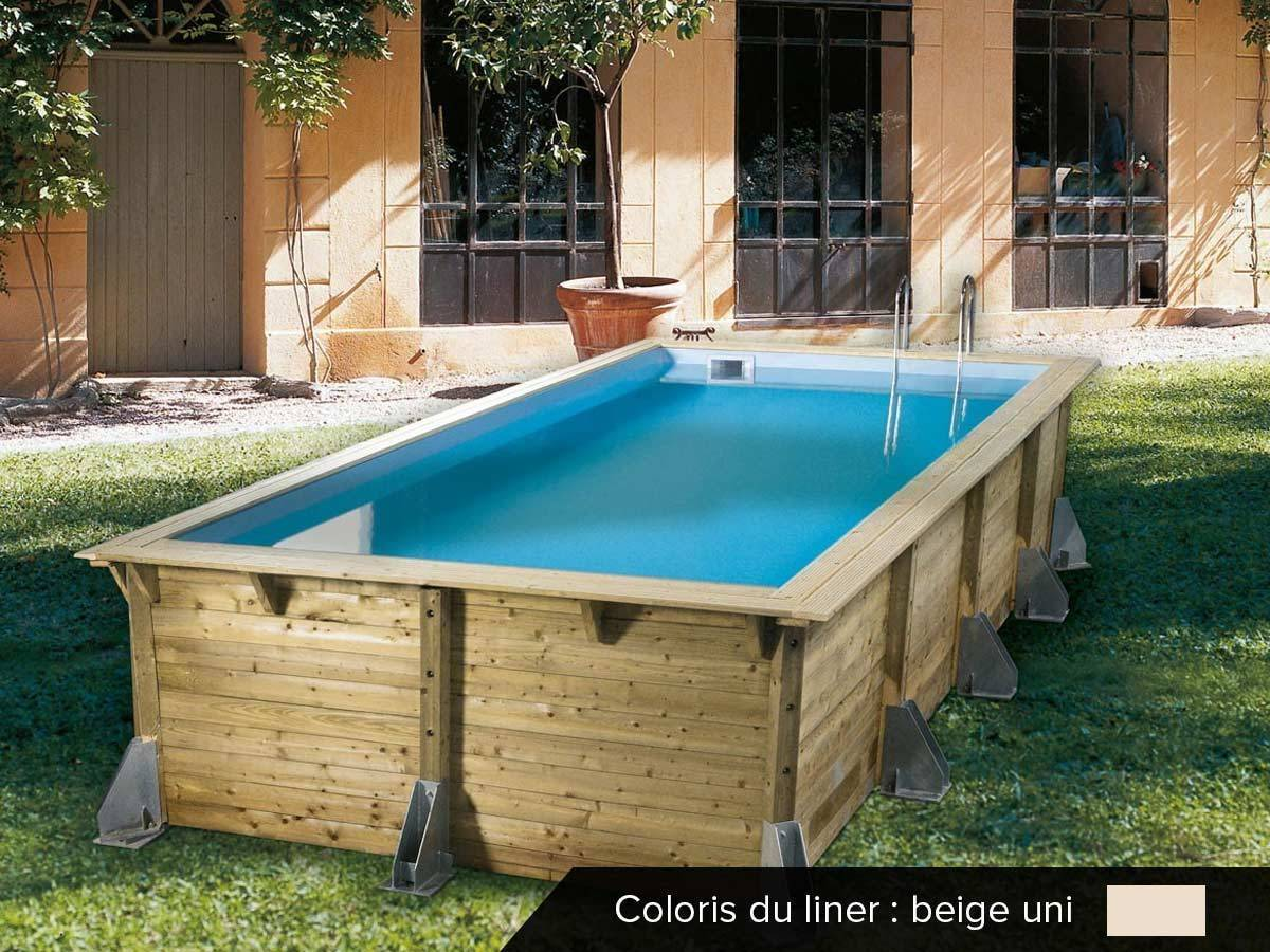 Piscine bois pas cher azura 5 05 x 3 50 x 1 26 m ubbink for Photo piscine bois