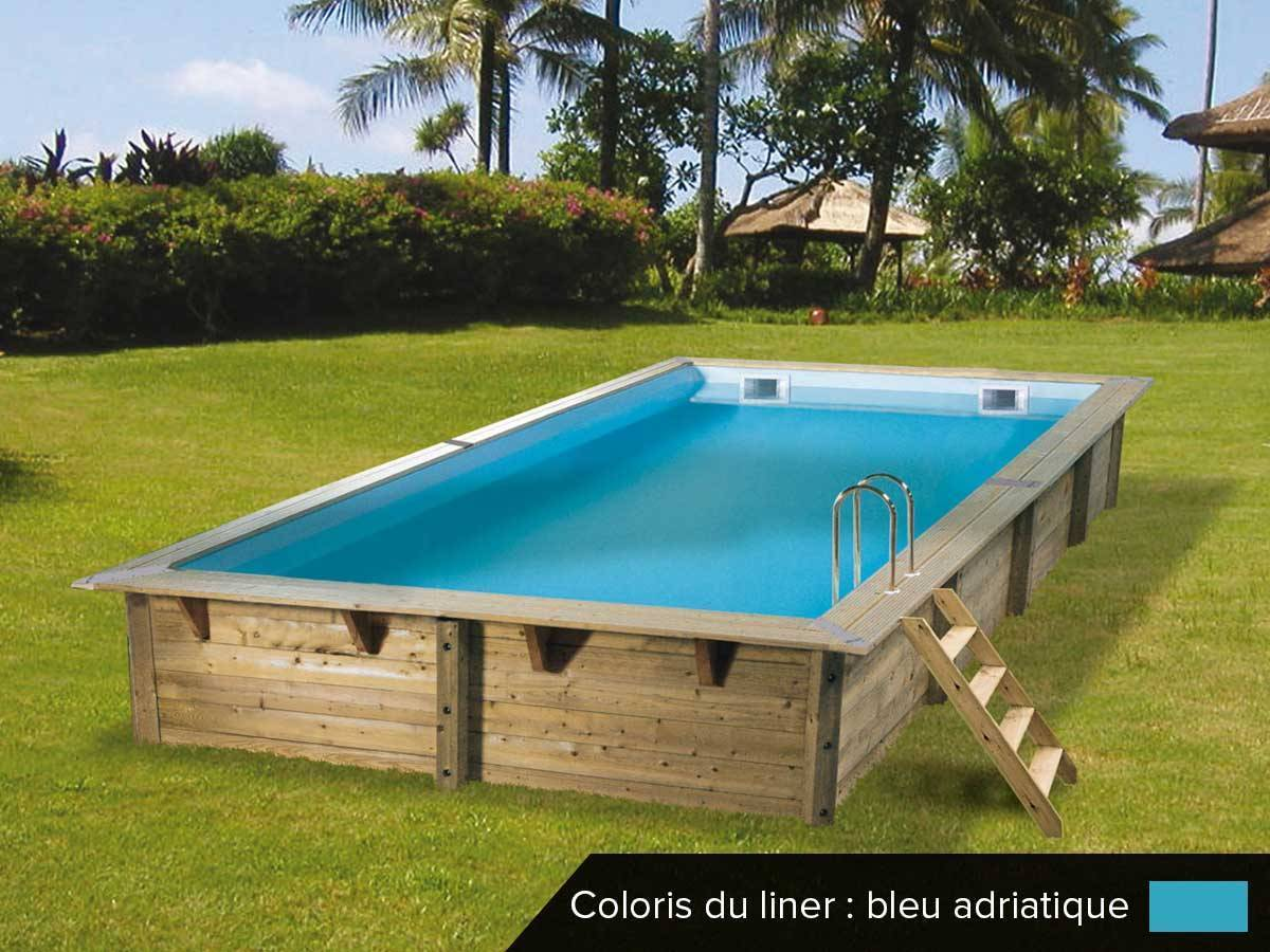 piscine bois ubbink linea 6 50 x 3 50 x 1 40 m. Black Bedroom Furniture Sets. Home Design Ideas