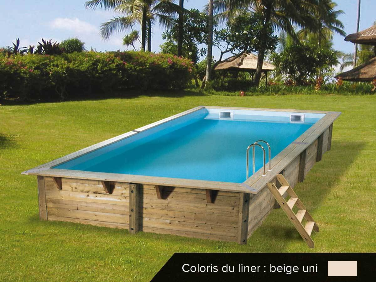piscine bois ubbink linea 6 50 x 3 50 x 1 40 m filtration accessoires. Black Bedroom Furniture Sets. Home Design Ideas
