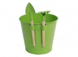 Pot de fleurs avec mini-outils pour enfants