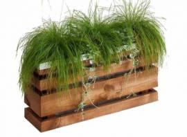 Jardinière en bois rectangulaire Lign Z