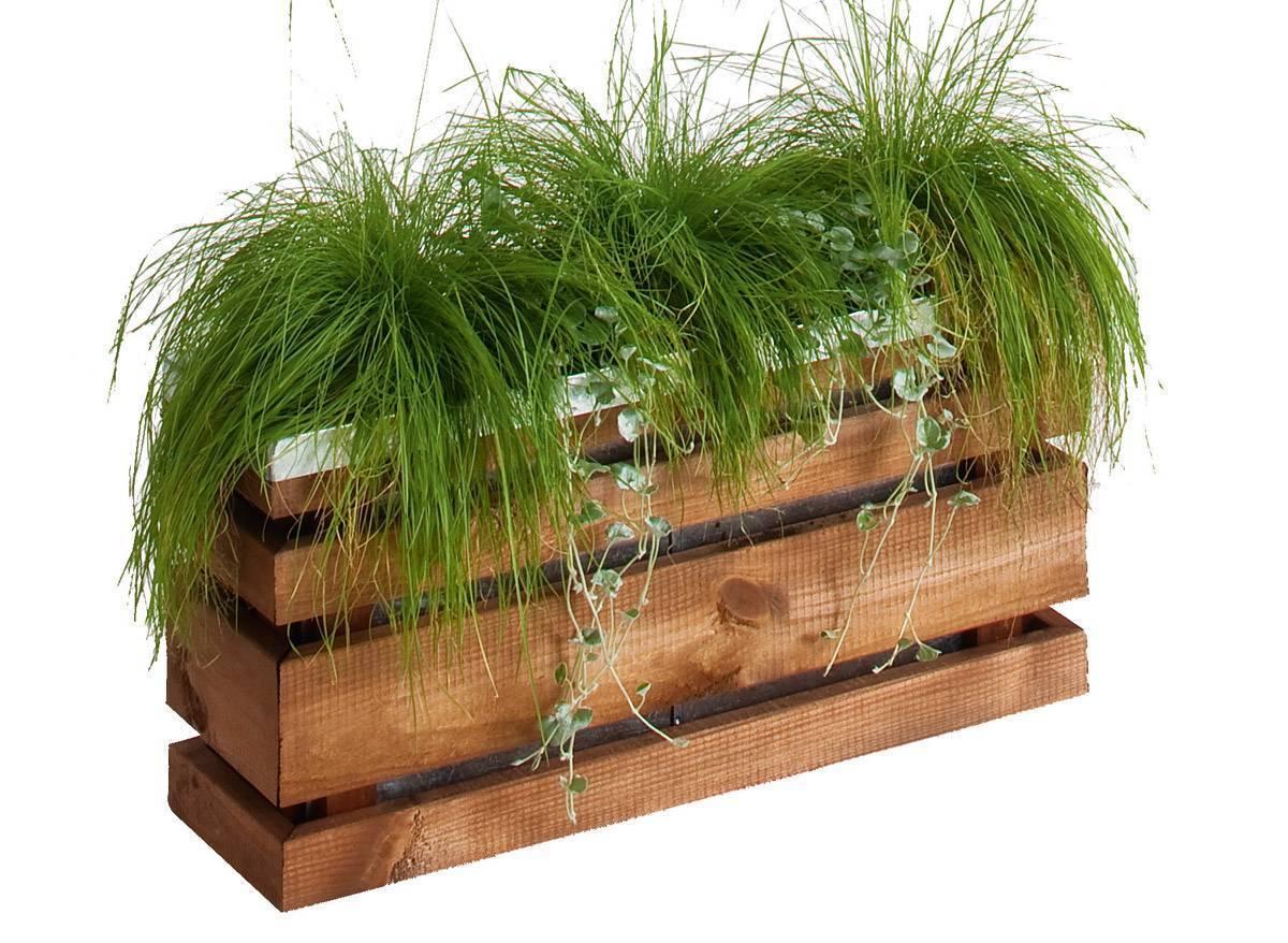 Jardinière bois rectangulaire Jardipolys modèle Lign Z à