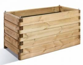 Jardinière en bois rectangulaire Oléa