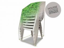 Housse de protection pour piles de chaises 66 x 66 x 110 cm feuillages