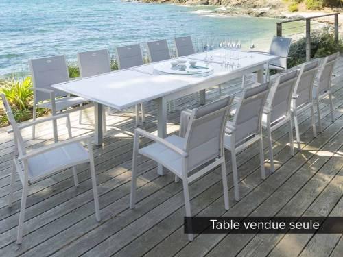 Table de jardin hesp ride extensible azua 8 12 places for Table extensible azua 8 12 places aluminium hesperide