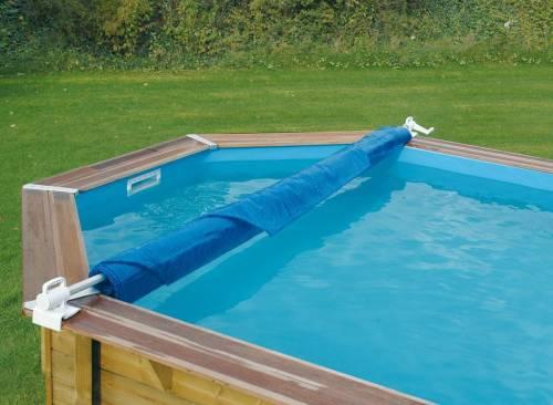 Enrouleur de b che amovible avec attaches ubbink jardideco for Enrouleur bache piscine cash piscine