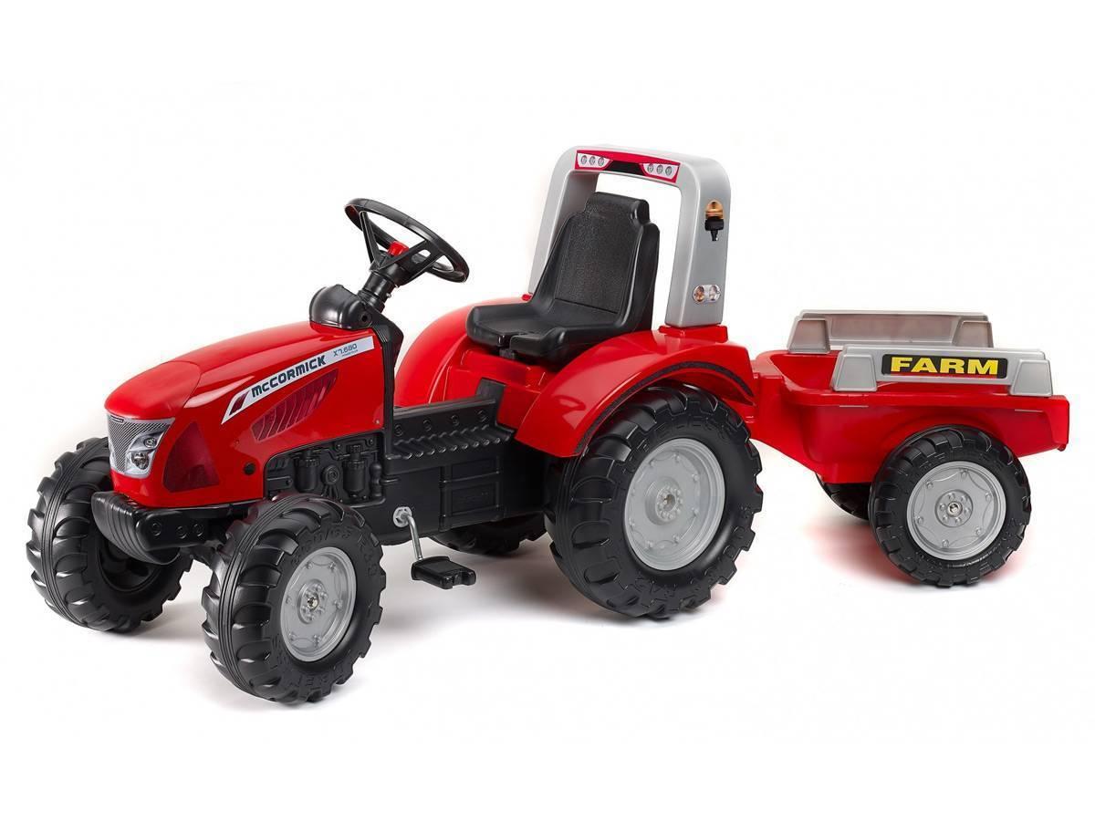 Tracteur enfant falk mc cormick x 7 remorque incluse - Remorque tracteur enfant ...