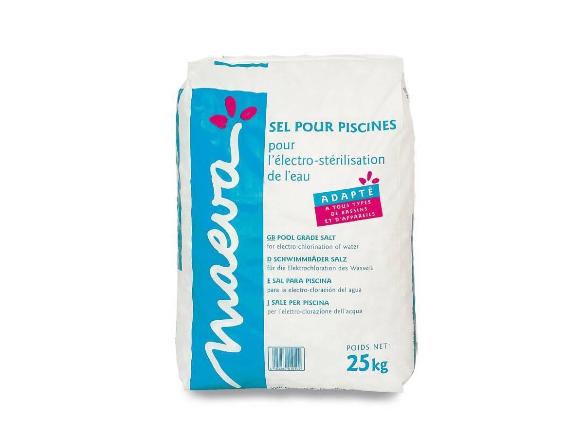 Sel piscine pour lectrolyse maeva sac 25 kg jardideco for Prix piscine sel