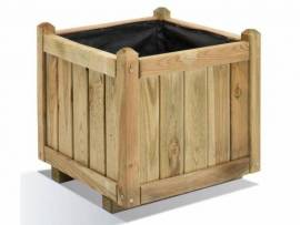 Jardinière en bois carrée Vendôme