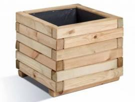Jardinière en bois carrée Stockolm