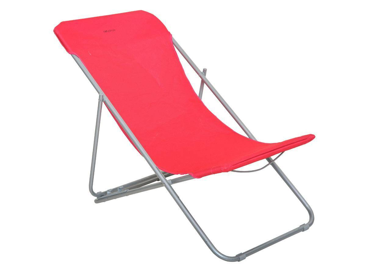 Chaise longue chilienne pliante setubal hesp ride jardideco for Chaise longue jardin hesperide