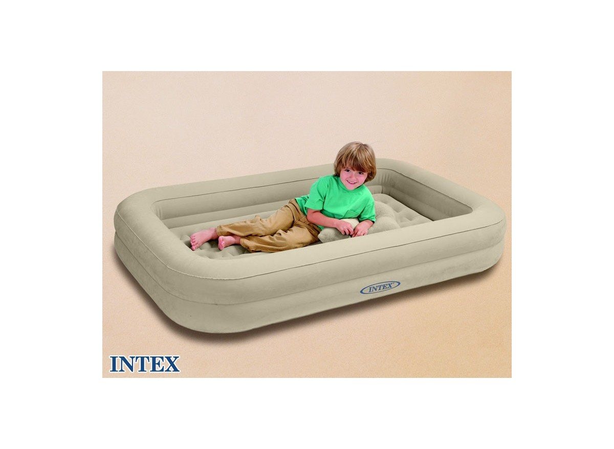 matelas gonflable enfant intex floqu 1 place gonfleur. Black Bedroom Furniture Sets. Home Design Ideas