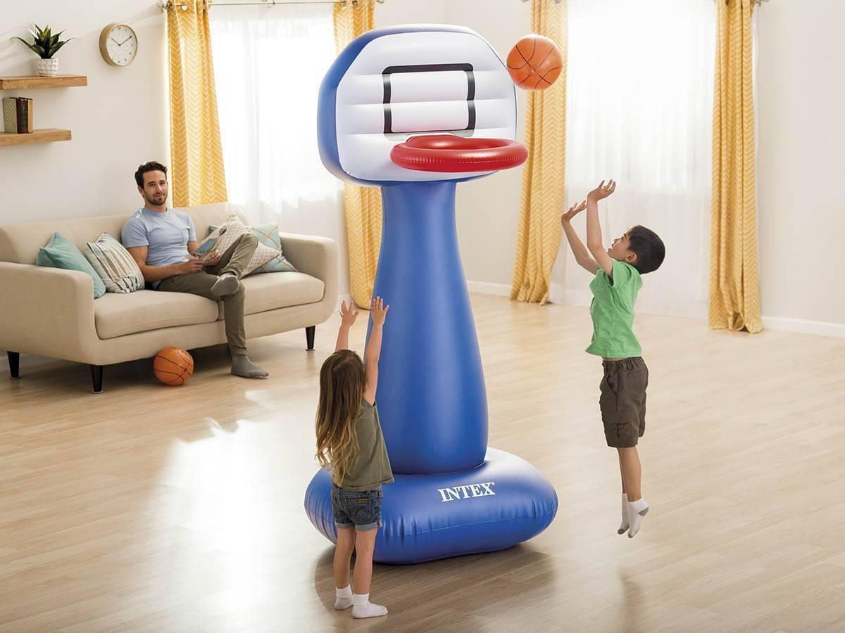 jeux panneau de basket avec pied gonflable ballon intex. Black Bedroom Furniture Sets. Home Design Ideas