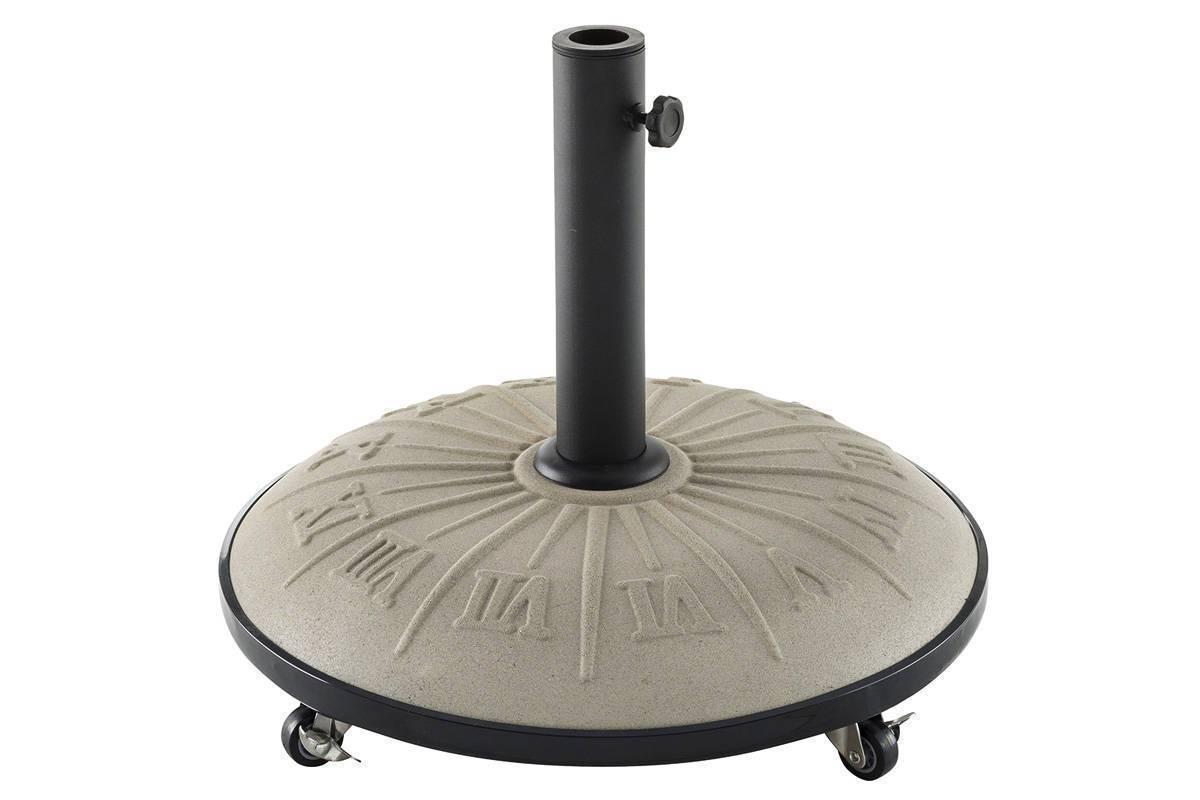 pied de parasol hesp ride motif cadran solaire poids 25 kg. Black Bedroom Furniture Sets. Home Design Ideas