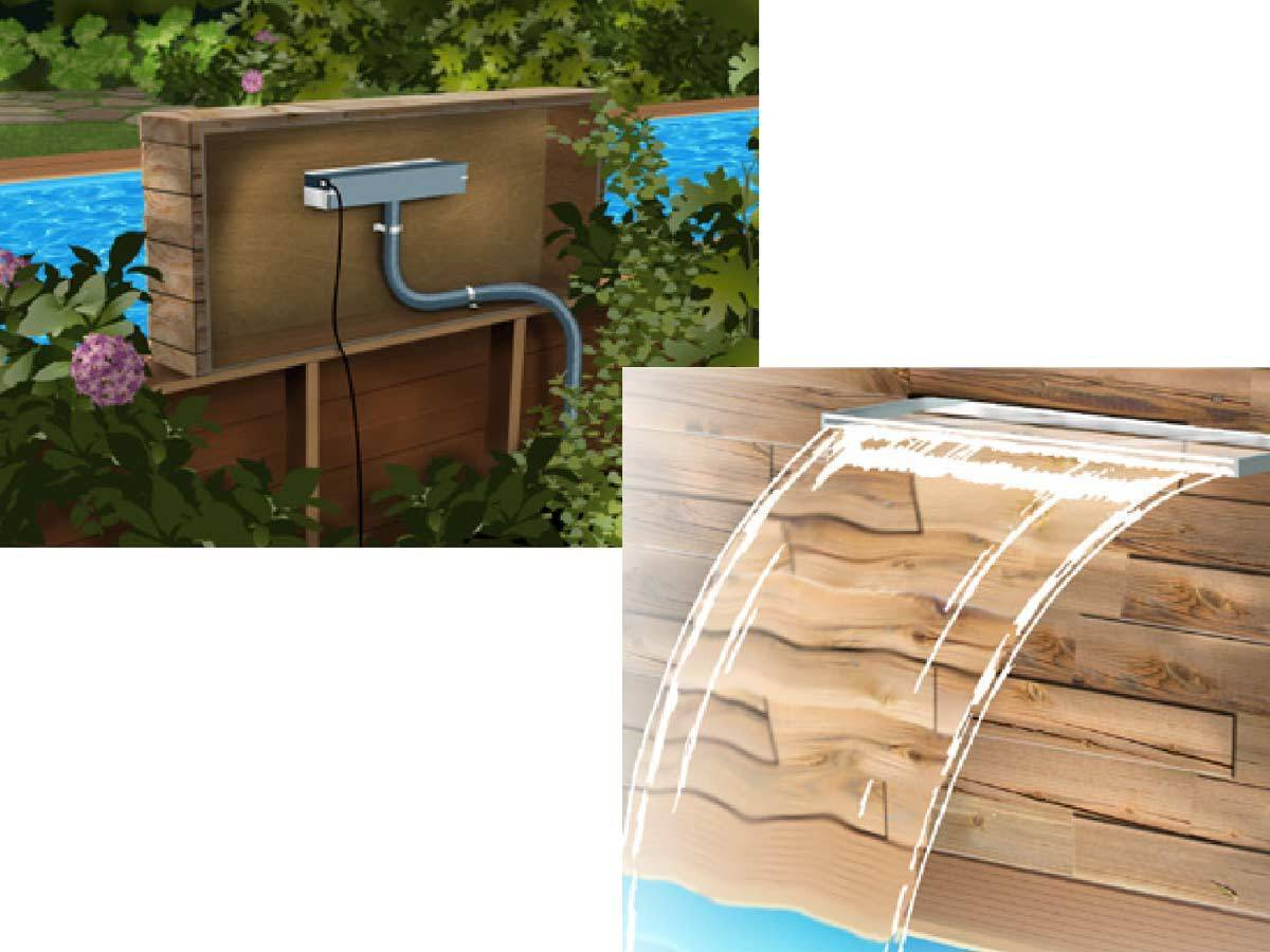 Cascade de pisicne ubbink mod le niagara transparente - Cascade pour piscine ...