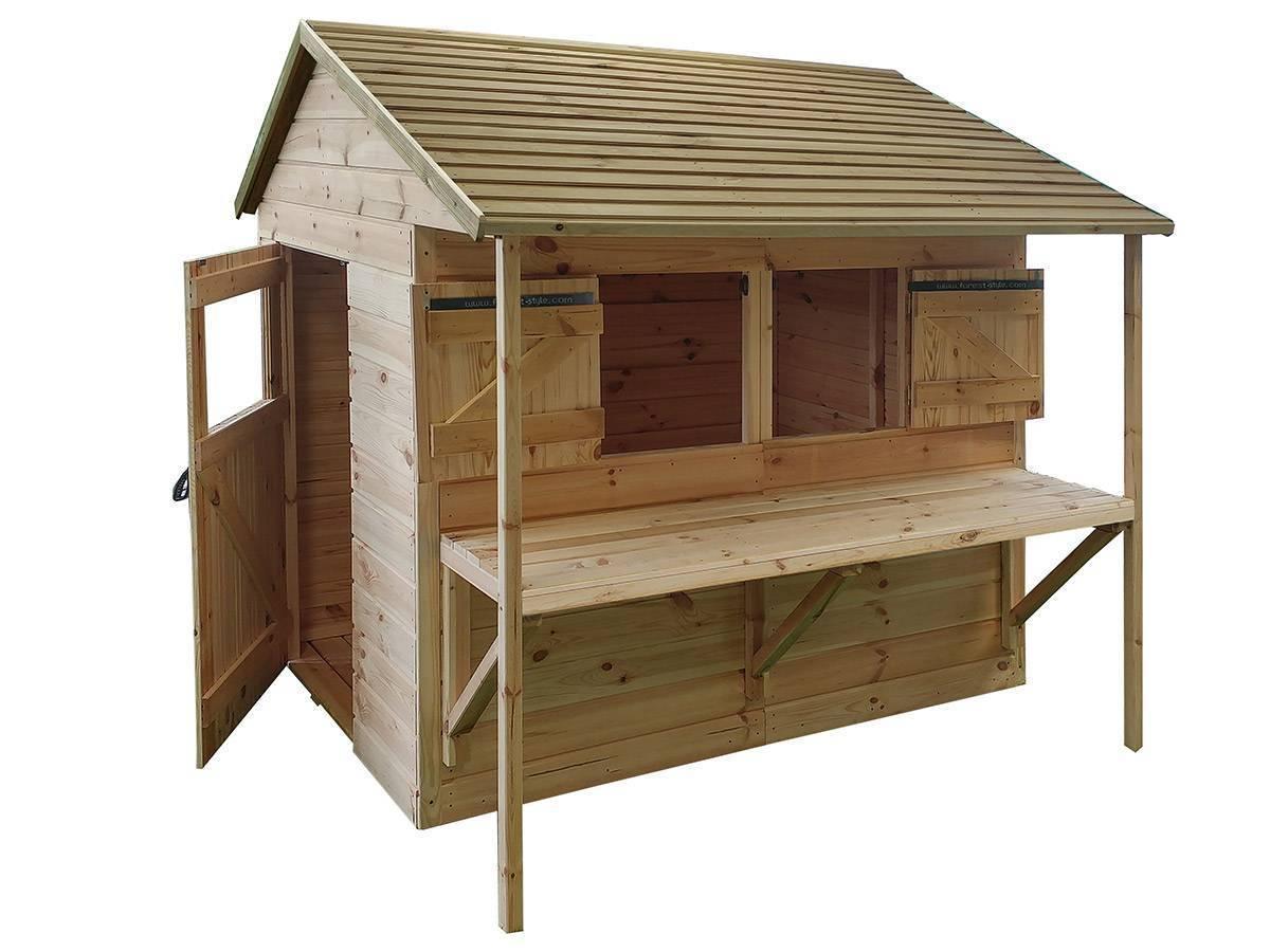 cabane enfant en bois mod le l ontine forest style. Black Bedroom Furniture Sets. Home Design Ideas