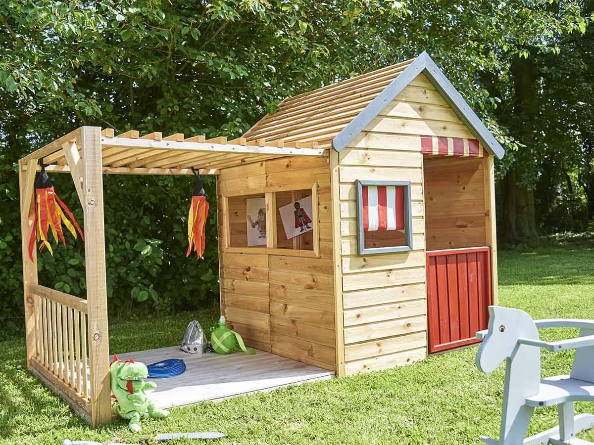 Cabane enfant en bois modulable mod le margot forest style - Maison d enfant pour jardin ...