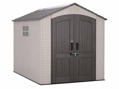 abri de jardin en pvc surface 6 07 m lifetime. Black Bedroom Furniture Sets. Home Design Ideas