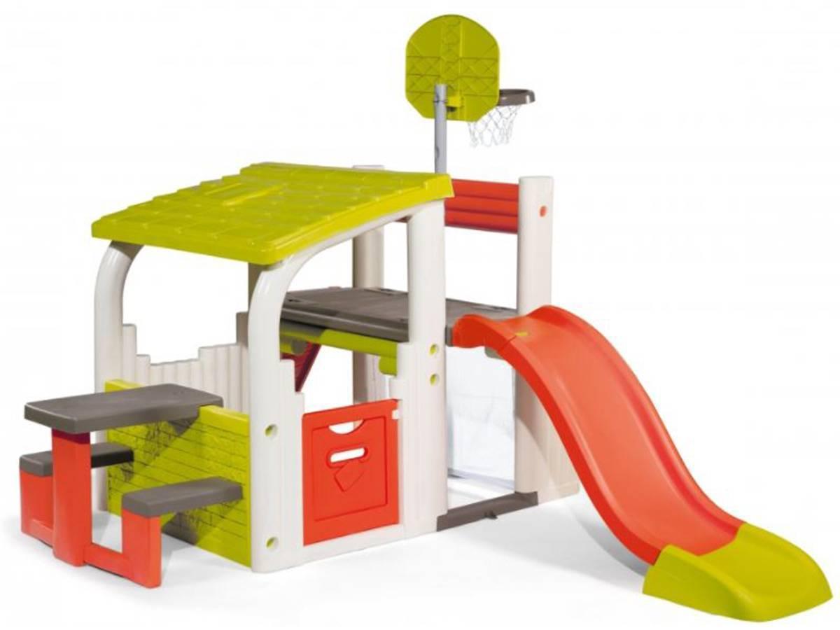 aire de jeux avec toboggan mod le fun center smoby. Black Bedroom Furniture Sets. Home Design Ideas