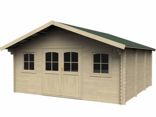 Abri de jardin en bois massif 34 mm - 23,62 m²