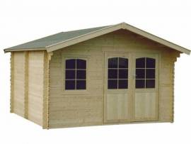 Abri de jardin en bois massif 44 mm - 14,90 m²