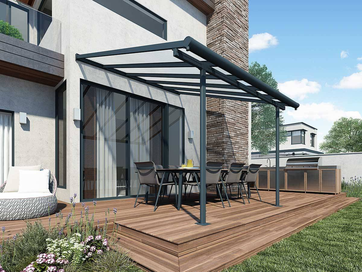 pergola toit couv 39 terrasse mod le elite chalet et jardin. Black Bedroom Furniture Sets. Home Design Ideas