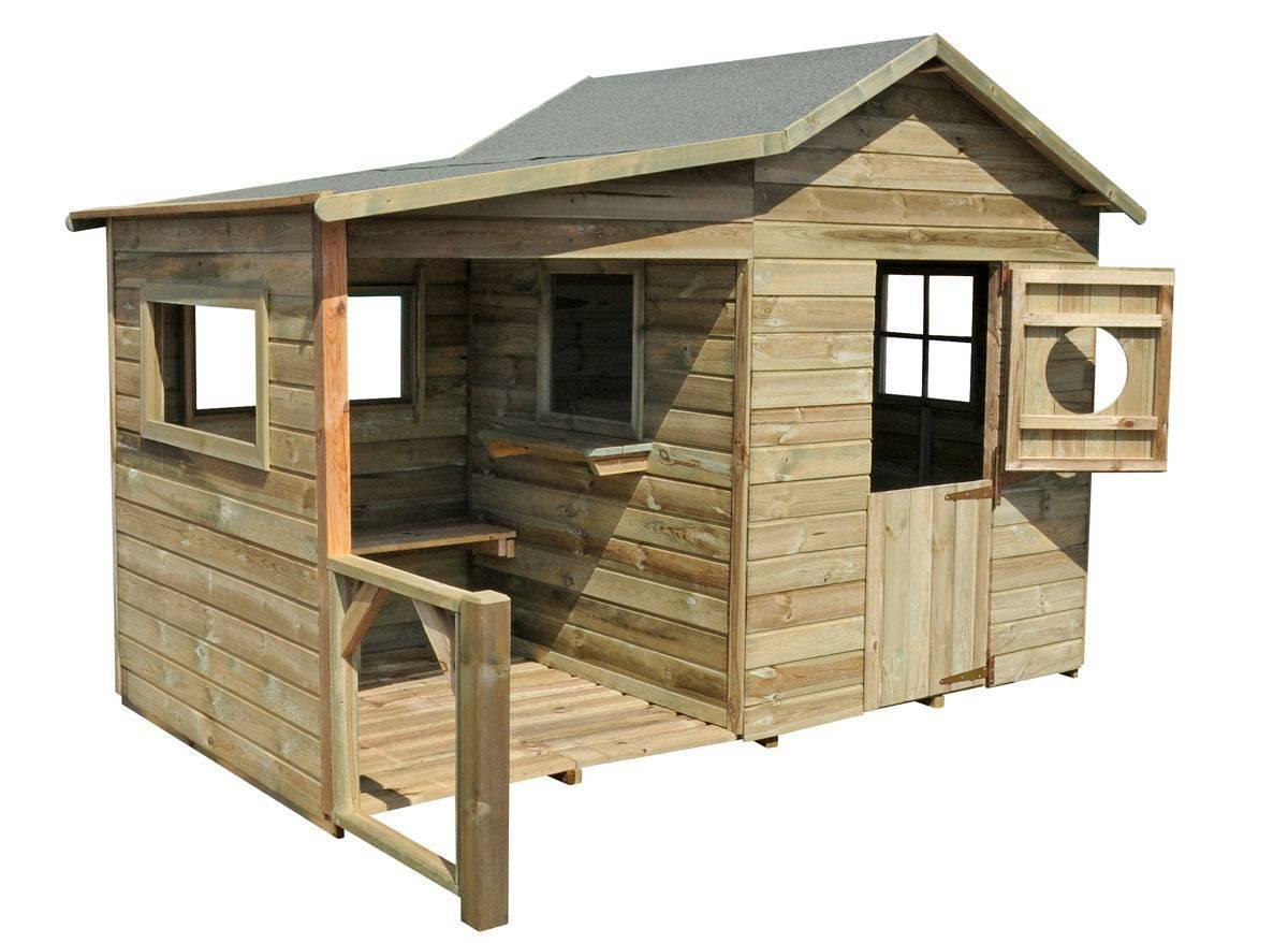 Cabane enfant bois pas cher hacienda forest style - Plan pour maisonnette en bois ...