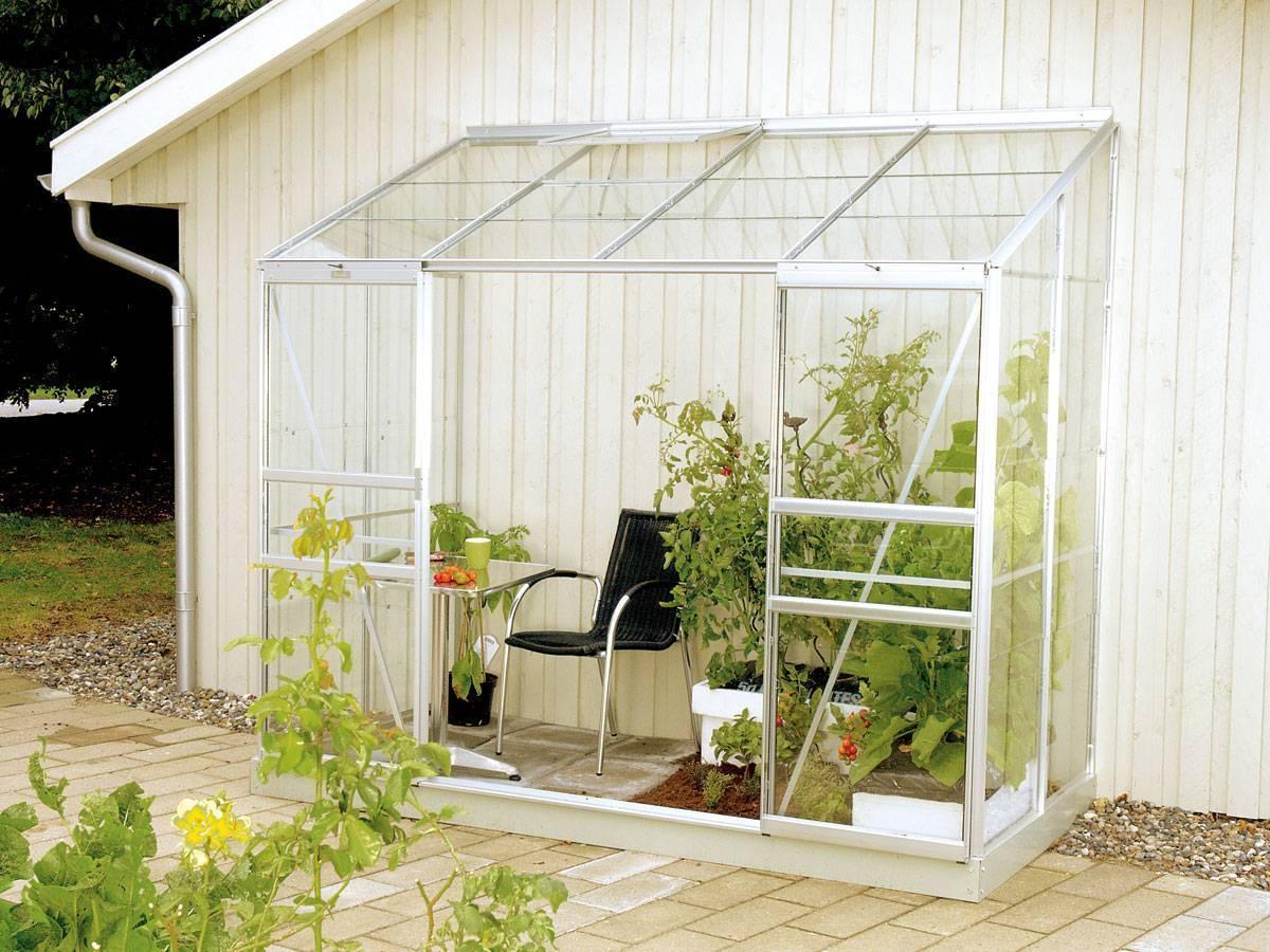 Serre adossée en verre Ida - 3.00 m²