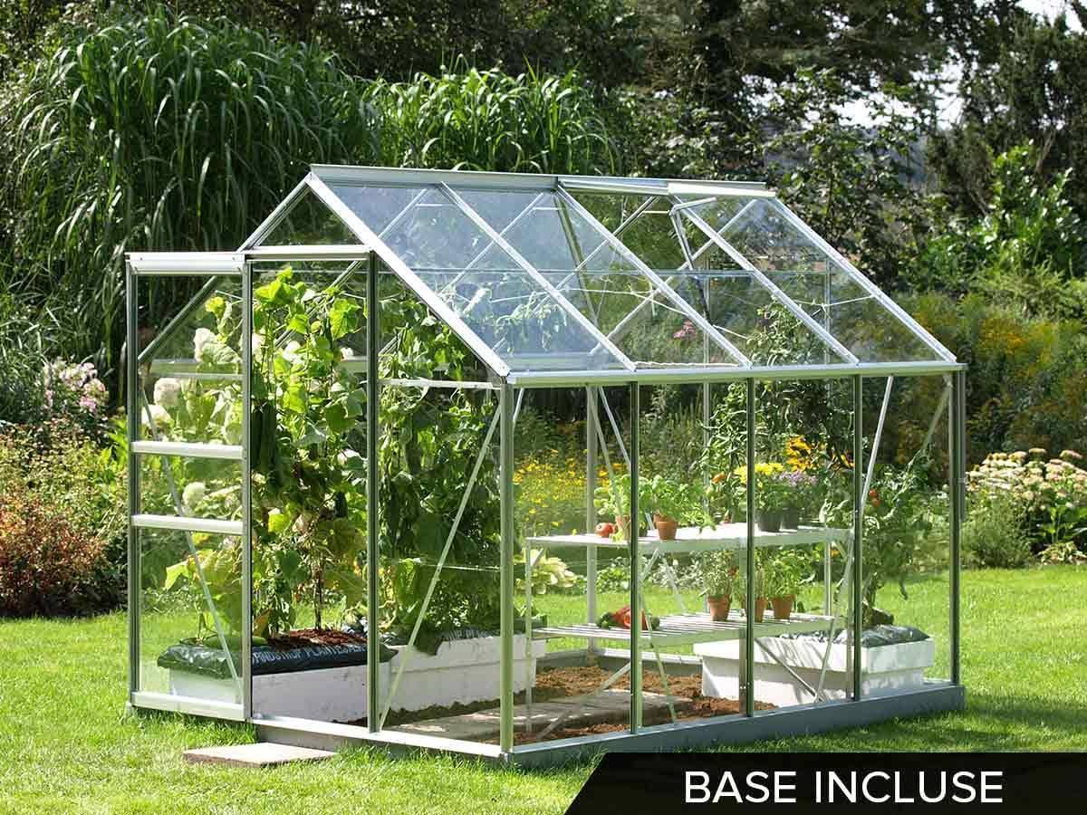 Serre en verre pour jardin modèle Venus 5 m² | Lams