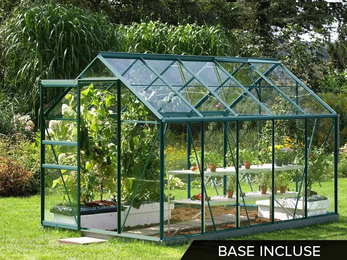 Serre de jardin en verre v nus 6 20 m - Accessoires serre de jardin ...