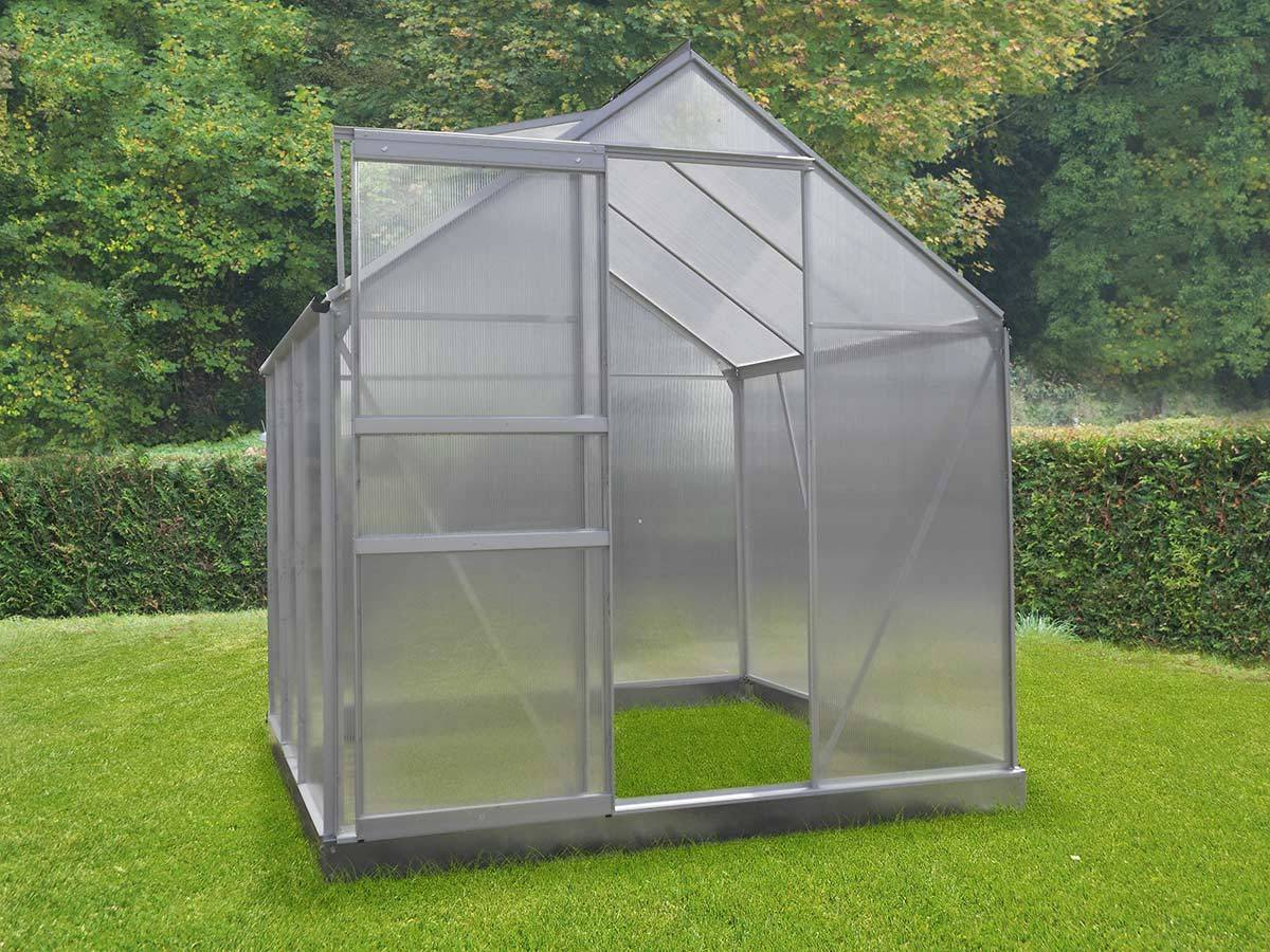 serre polycarbonate chalet jardin base incluse taille au choix. Black Bedroom Furniture Sets. Home Design Ideas