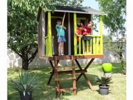 cabane pour enfant maisonnette en bois pvc smoby soulet. Black Bedroom Furniture Sets. Home Design Ideas