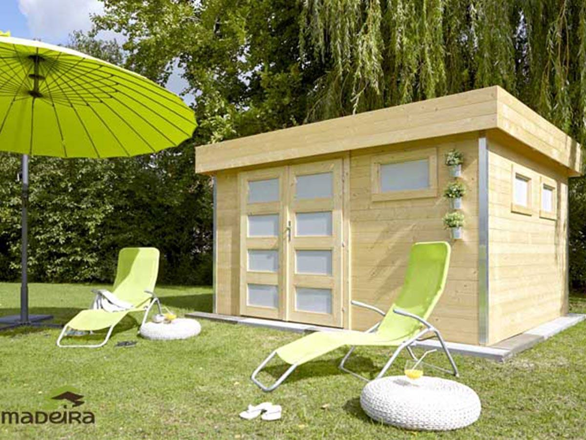 Abri de jardin Madeira bois 28 mm modèle Comfy 10,5 m²
