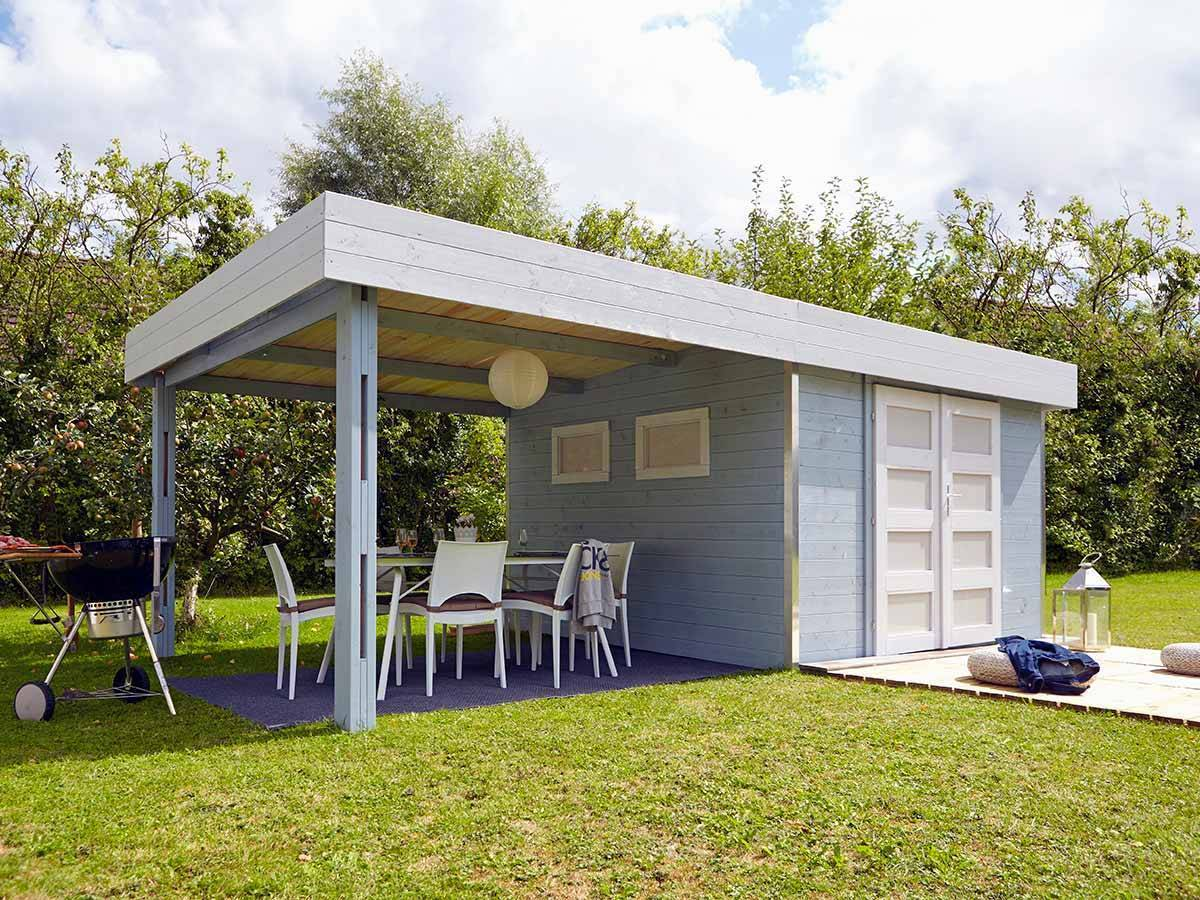 abri de jardin madeira en bois 28 mm mod le lounj 17 5 m. Black Bedroom Furniture Sets. Home Design Ideas