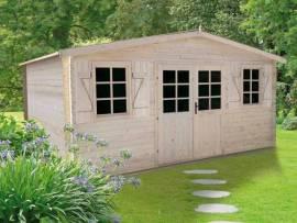 Abri de jardin bois Flodeal 28 mm | 11,92 m² | Jardideco