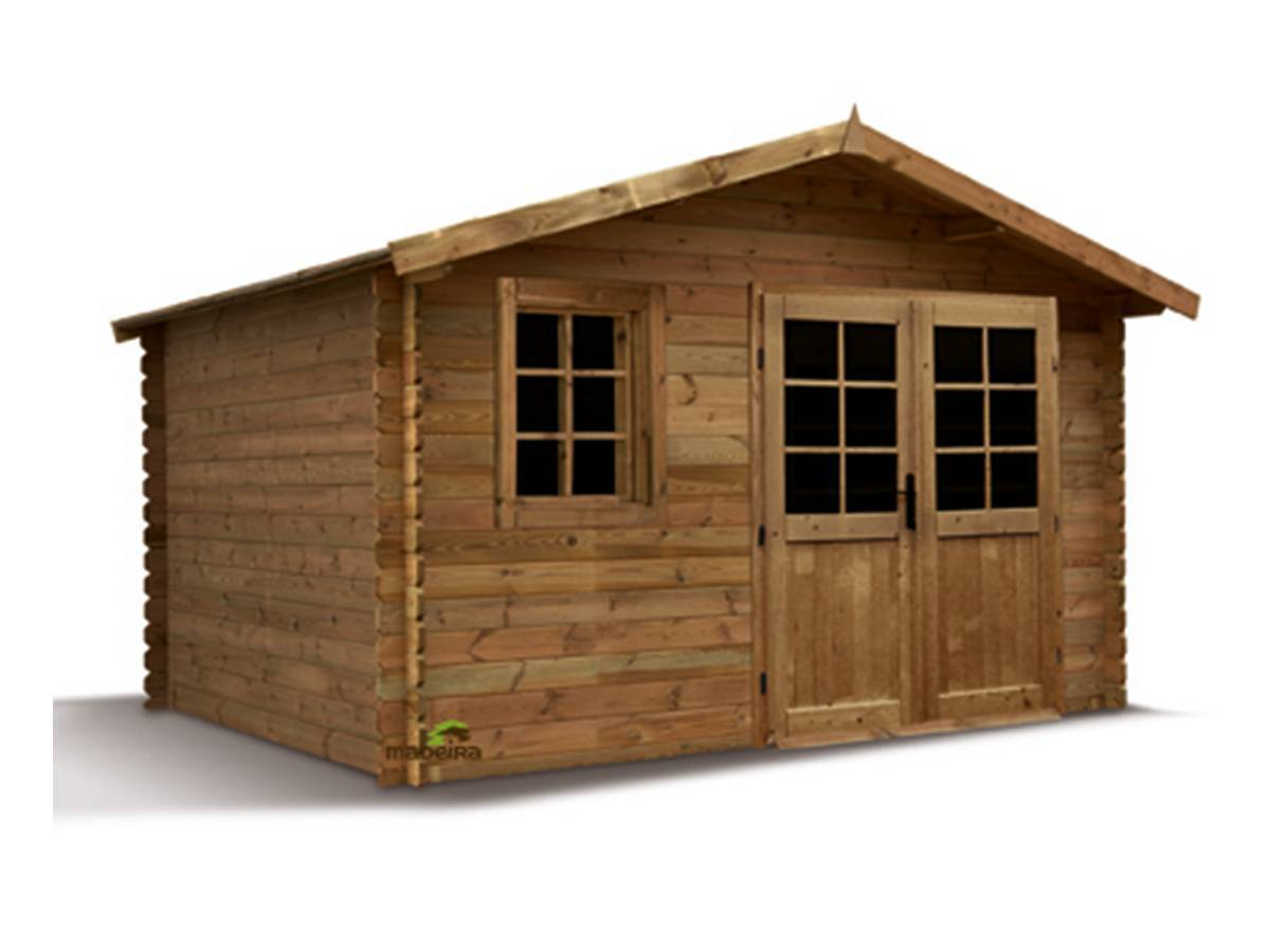 Abri de jardin madeira en bois trait 28 mm aloha 11 3 m for Abri bois traite