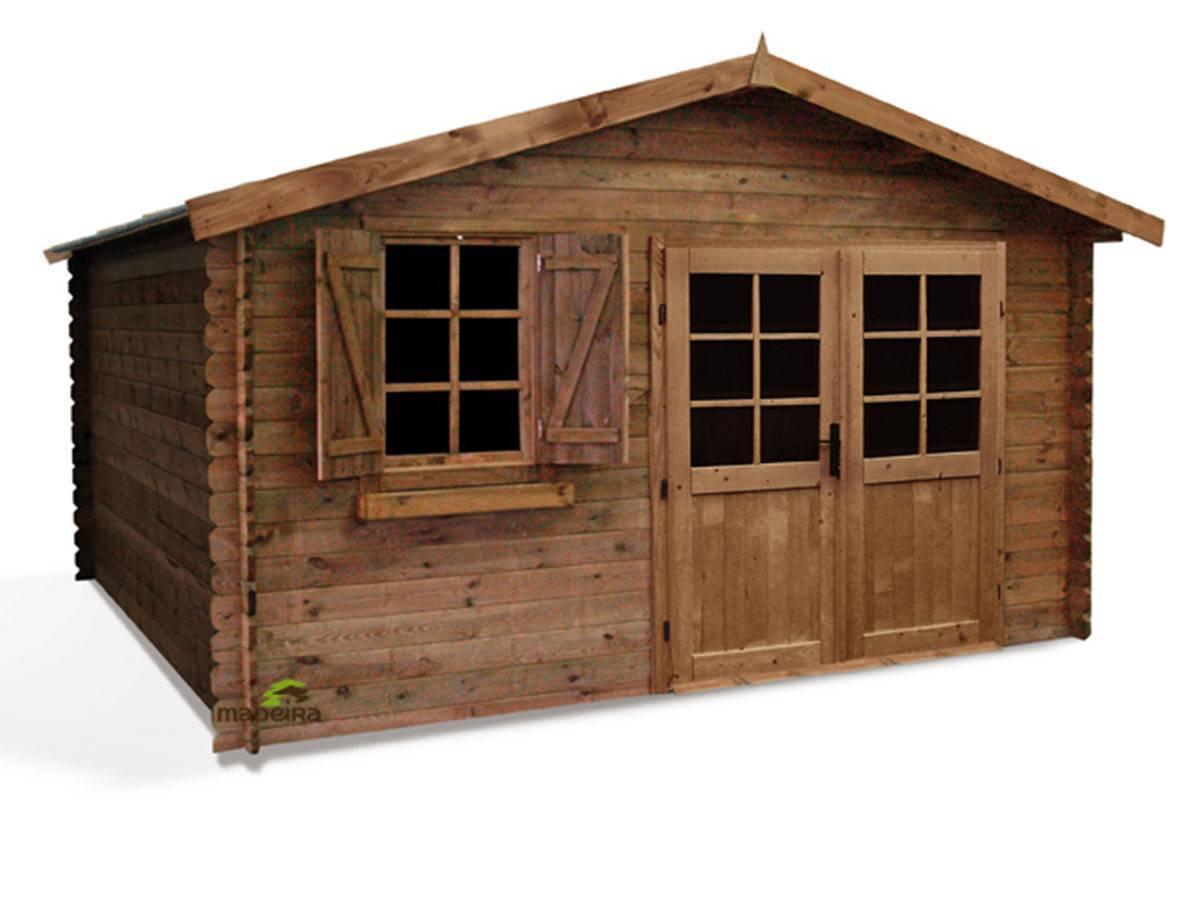 Abri de jardin madeira en bois trait 28 mm mod le zahora for Abri bois traite
