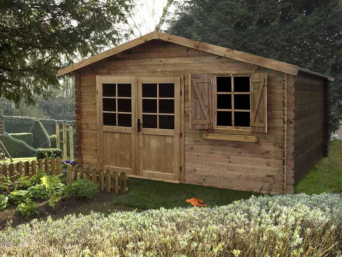 Abri de jardin madeira en bois trait 28 mm mod le zahora for Abri de jardin bois traite autoclave