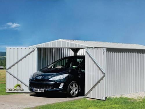 garage voiture en m tal madeira mod le mackay 17 9 m. Black Bedroom Furniture Sets. Home Design Ideas