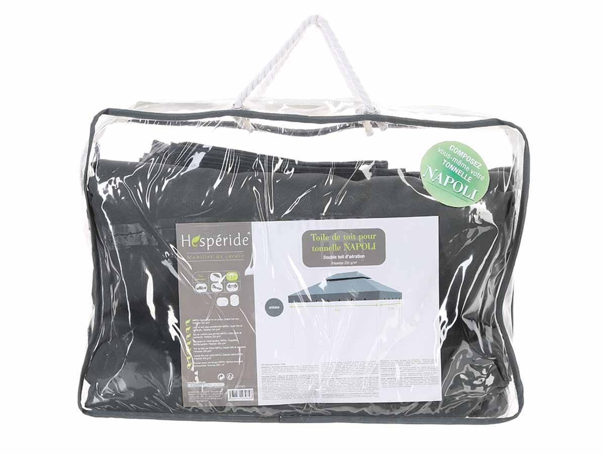 toile de toit pour la tonnelle napoli hesp ride jardideco. Black Bedroom Furniture Sets. Home Design Ideas