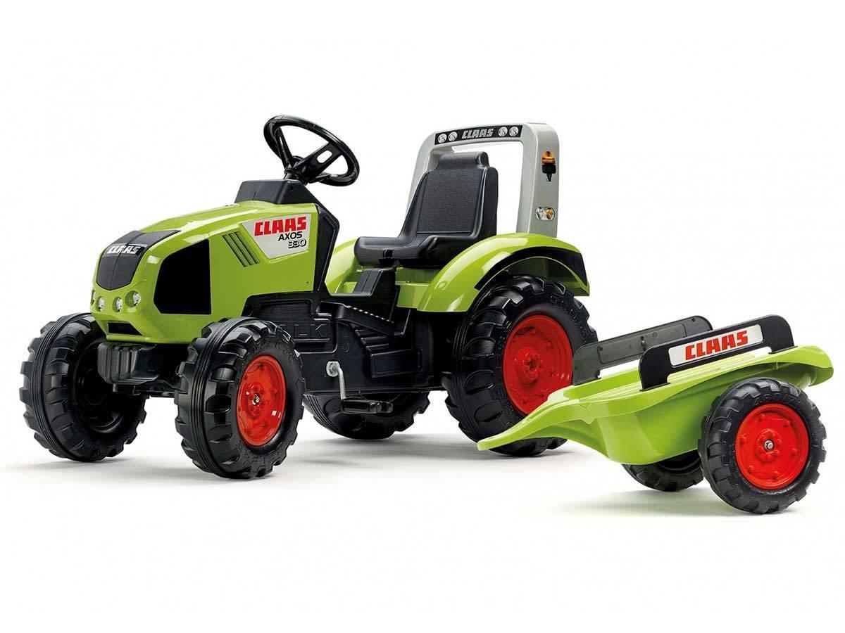 Tracteur enfant falk mod le claas axos remorque prix mini - Tracteur remorque enfant ...