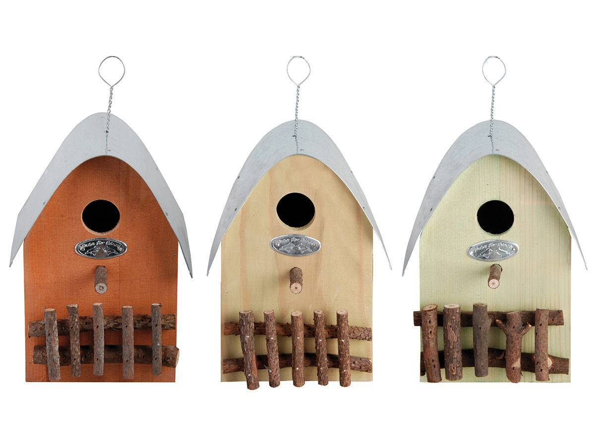 Nichoir A Oiseaux Modele Maisonnette En Bois Eschert Design