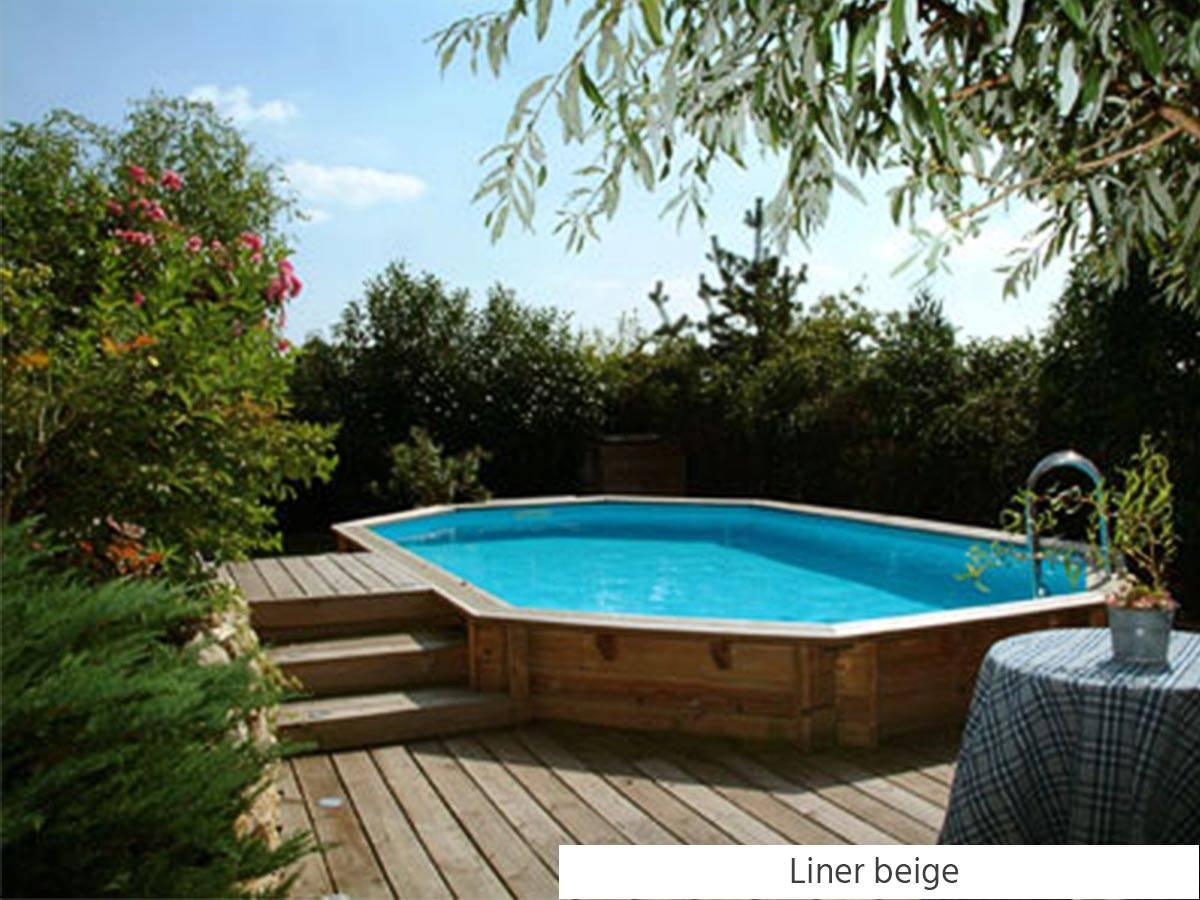 Piscine Tubulaire Terrasse Bois piscine bois azura 7,50 x 4,00 x 1,30 m - ubbink -