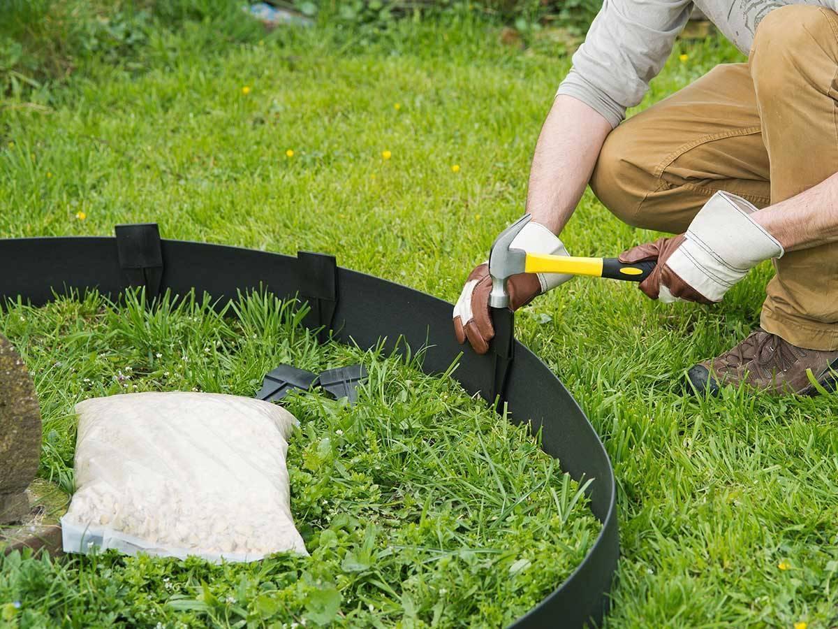 Bordure en polyr thane pour jardin et bassin jardideco - Bordure pour allee de jardin ...