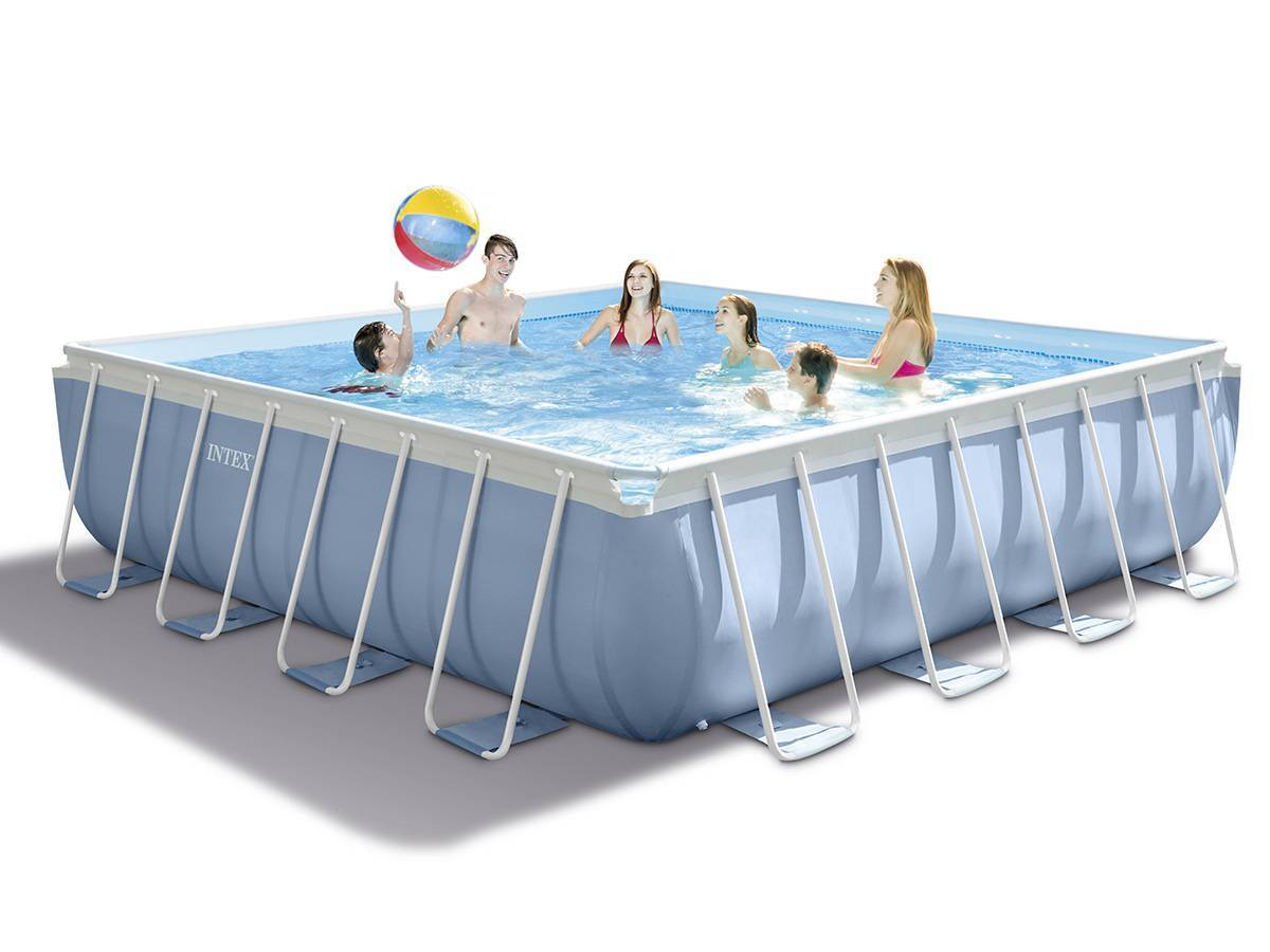 piscine tubulaire carree 1 22 x 1 22 x 0 30 m – intex