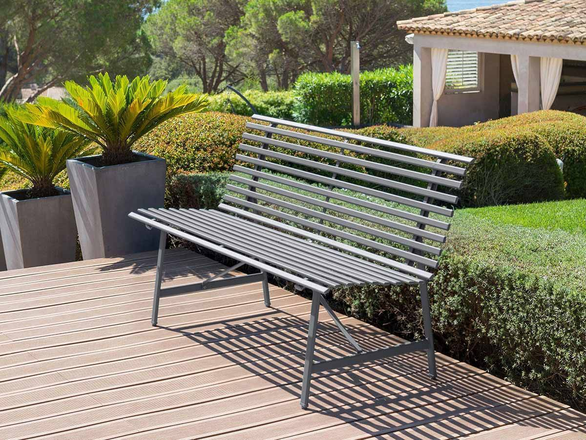 banc de jardin en m tal tampa hesp ride jardideco. Black Bedroom Furniture Sets. Home Design Ideas