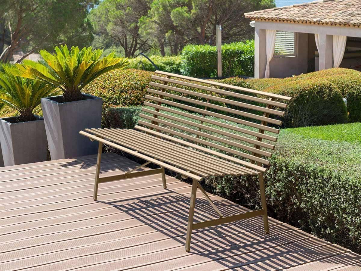 banc de jardin en m tal tampa hesp ride. Black Bedroom Furniture Sets. Home Design Ideas