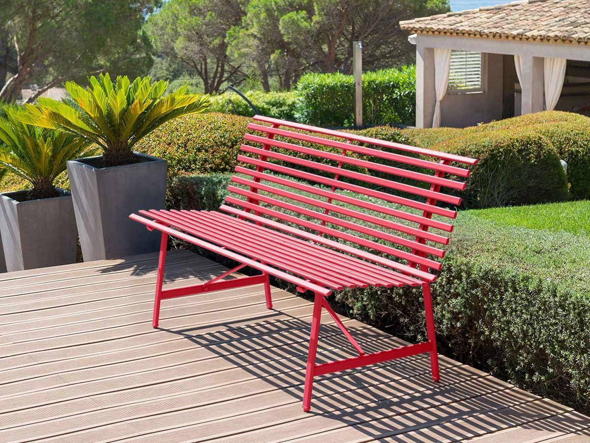 banc de jardin en m tal tampa hesp ride. Black Bedroom Furniture Sets. Home Design Ideas