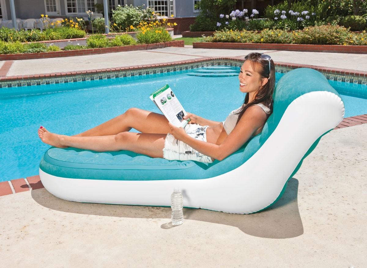 Fauteuil gonflable lounge d tente azur intex jardideco for Fauteuil gonflable piscine intex