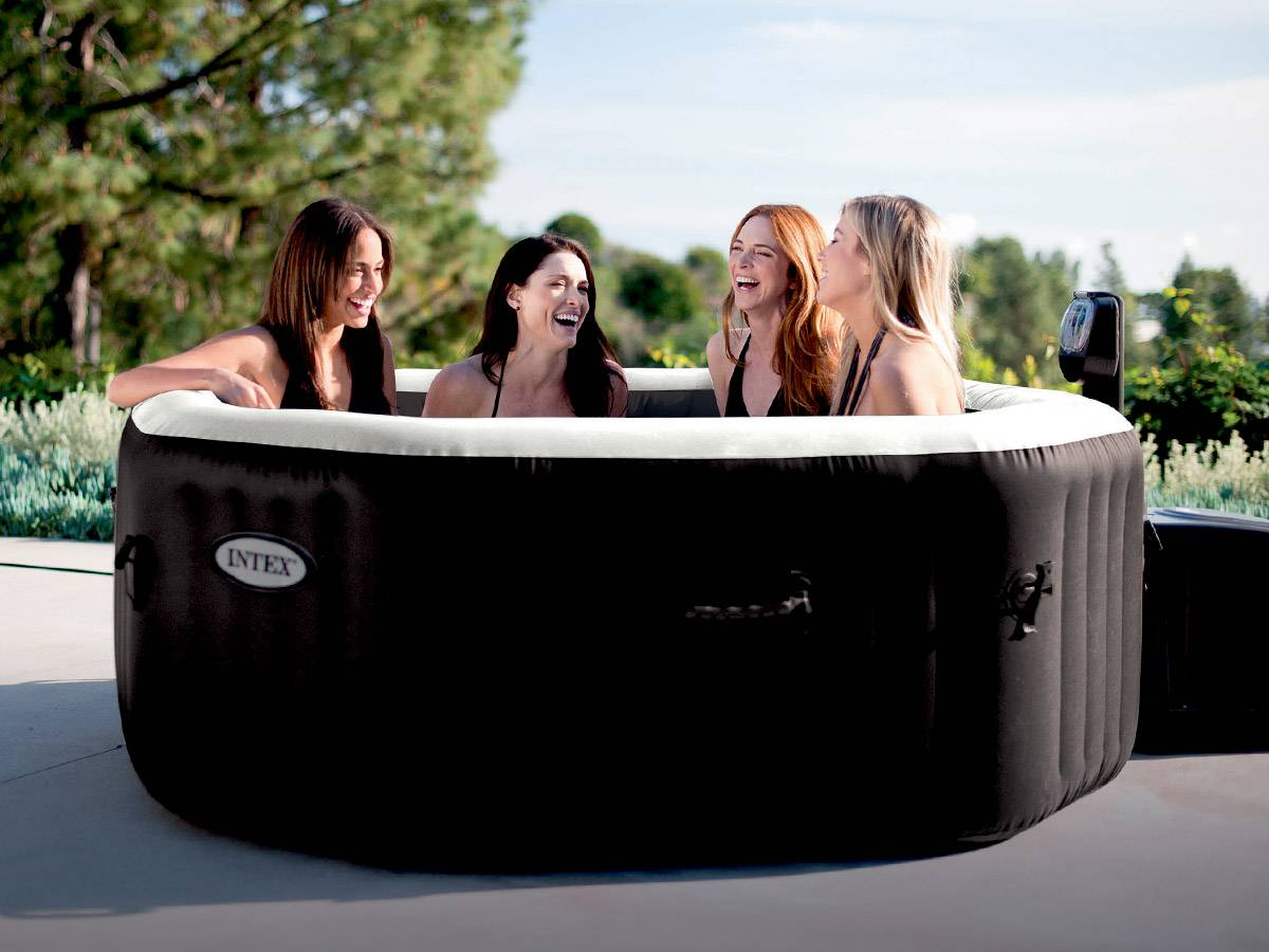 Amenagement Spa Gonflable Interieur spa gonflable intex octogonal bulles & jets 4 places +